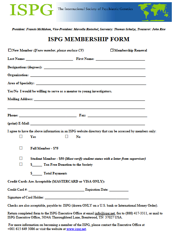 ISPGMembershipForm